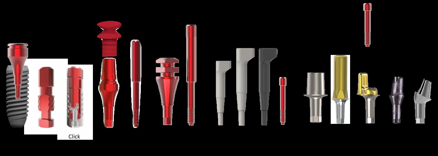 Ghid selecție componentistică implanturi dentare platforma 2mm - rosu