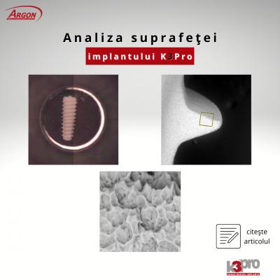 Analiza cantitativă și calitativă a suprafeței implanturilor Rapid și Sure